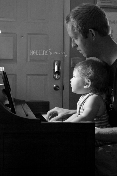 141 piano with daddy