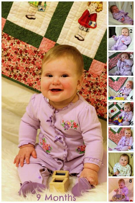 Eva Joy 9 Months collage
