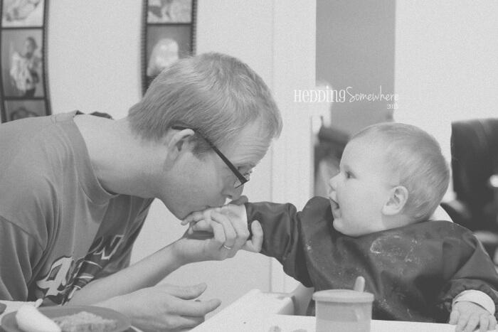 Eva Joy & Daddy 9 months