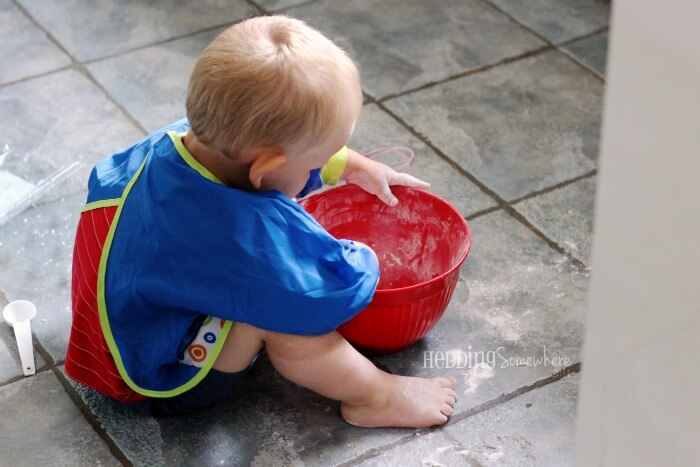 Lessons from a Toddler make a mess 3